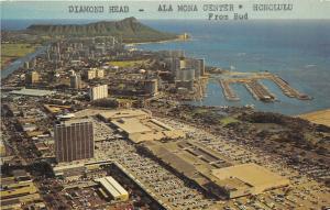 Honolulu Hawaii 1950s Postcard Diamondhead Ala Mona Center Aerial View
