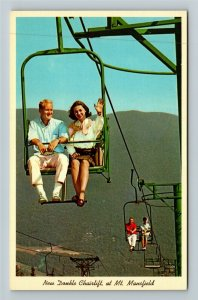 Stowe VT- Vermont, Mt. Mansfield, Chairlift, Scenic Rides, Chrome Postcard