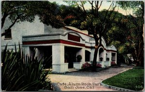 San Jose, California Postcard Café, Alum Rock Park Restaurant View 1919 Cancel