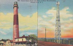 ATLANTIC CITY , New Jersey , 1945 ; LIGHTHOUSE & Radio Tower