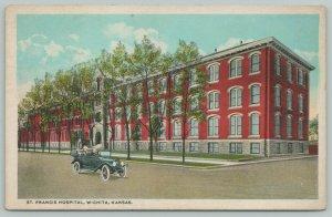 Wichita Kansas~Saint Francis Hospital~1920s Postcard