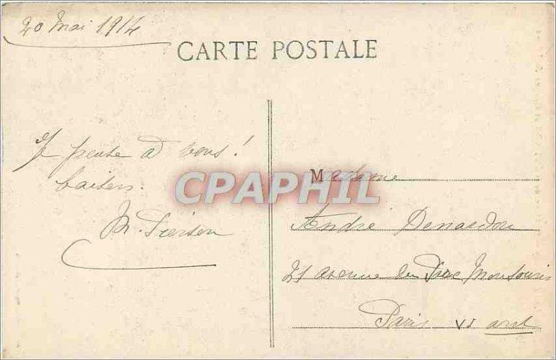 Old Postcard Lake Annecy Chateau de Menthon and helmet Neron
