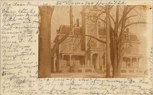 Portland ME St Barnabas Hospital in 1906 RPPC Postcard