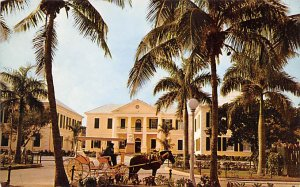 Nassau in the Bahamas Post card Old Vintage Antique Postcard Government Build...