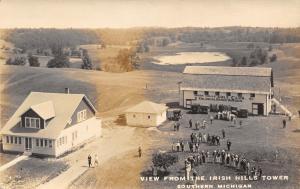 Irish Hills Michigan~Golf Club & Course~Colonial Dance Garden~Band~1920s RPPC