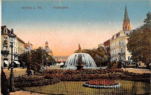 Germany Bonn am Rhein Kaiserplatz, brunnen, fountain AK 1918