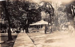 Iowa Ia Real Photo RPPC Postcard c1930 CLEAR LAKE City Park Pavilion 2