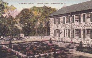 A Sunken Garden Valeria Home Oscawana New York Handcolored Albertype
