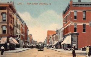 LPS58 OTTUMWA Iowa Main Street Town View Postcard