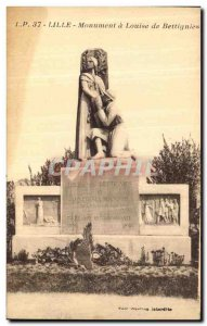 Postcard Old Lille Monument Louise de Bettignies Army