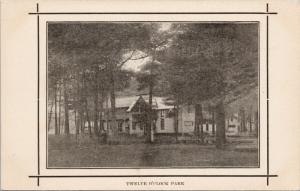 Twelve O'Clock Park Trenton Ontario ?? ON Unused Postcard E43
