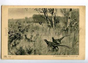 258550 Pheasant HUNT Hunter POINTER by SCHMITZBERGER Vintage