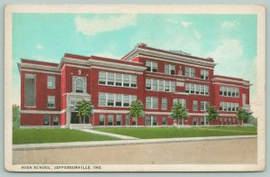 Jeffersonville Indiana~High School~Several Open Blinds~Small Trees on Lawn~1920s