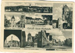 Germany, Gruss aus Aichach, unused Postcard