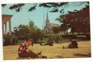 Fishermen Mending Nets,Yarmouth,Nova Scotia,Canada , 40-60