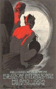 LP34 Milan Italy  Esposizione Internationale 1906 Poster Style Postcard