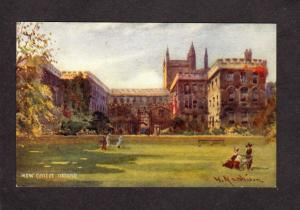 UK New College Oxford University England United Kingdom Postcard W Manhison