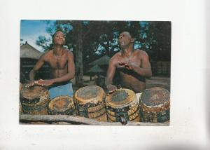 BF28112 kenya traditional drummers  types folklore   front/back image