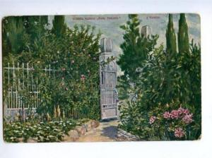 171417 Russia SOCHI Caucasian Riviera Resort Park Gate Old PC