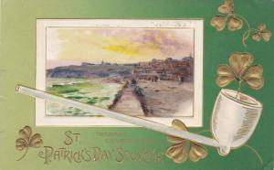 St. Patrick´s Day Souvenir, White Pipe, Tramore, Co. Waterford, Ireland, PU-...