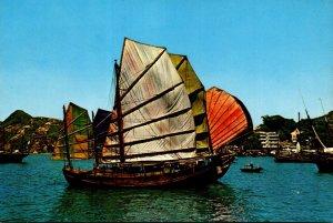 Hong Kong Fishing Junk At Aberdeen