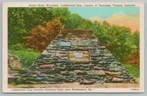 Virginia Kentucky~Daniel Boone Monument~Cumberland Gap~Vintage PC