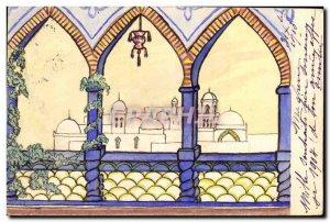 Old Postcard Fantasy Illustrator (drawing hand)