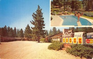 LARIAT LODGE Quincy, CA Roadside Motel Feather River Country ca 1960s Postcard