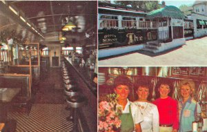 Lowell MA Four Sisters Owl Diner Multi-View Postcard