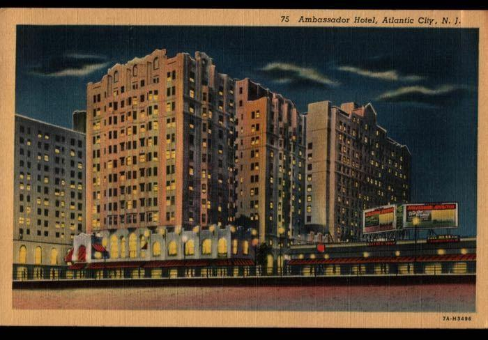 Atlantic City NJ Hagerstown MD Ambassador Hotel Postcard B02
