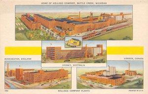 Advertising Post Card Kellogg Company Plants Battle Creek, MI, USA Unused