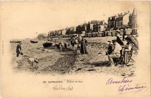 CPA St-AUBIN-sur-MER - Digue et Villas de Rive-Plage (475798)