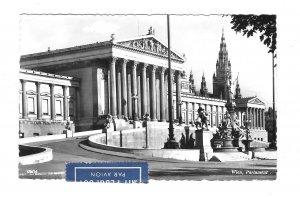RPPC Austria Vienna Wien Parliament Building Vintage PAG Glossy Postcard