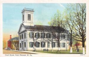 D96/ Point Pleasant West Virginia WV Postcard c1940s Court House Building