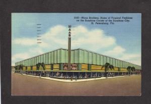 FL Maas Brothers store St Petersburg Florida Postcard Linen PC