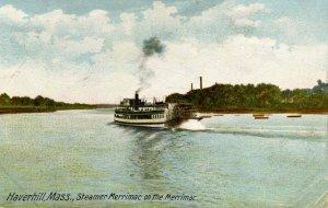 MA - Haverhill. Steamer Merrimac on the Merrimac River