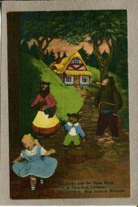 Postcard TN Rock City Lookout Mountain Goldilocks Three Bears 2489N