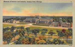 Museum of Science & Industry, Chicago, IL, Early Linen Postcard, Unused