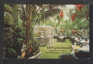 Lehr's Greenhouse Restaurant,San Francisco,CA Postcard