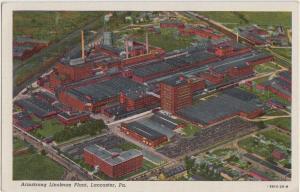 Pennsylvania Pa Postcard LANCASTER Armstrong Linoleum FACTORY Plant Birdseye