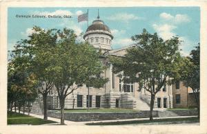 Guthrie Oklahoma~Carnegie Library~Now Museum~1918 Postcard