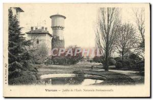 Old Postcard Chateau d & # 39eau Vierzon Garden of the National Professional ...
