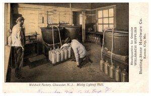 Missouri Welsbach  Factory Mixing Lighting Fluid