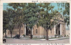 Florida Orlando The City Beautiful First M E Church 1939