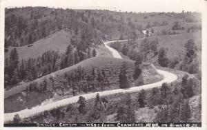 Nebraska Smiley Canyon West From Crawford Real Photo