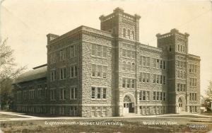 1912 Douglas County Gymnasium University Baker Kansas RPPC real photo 8342