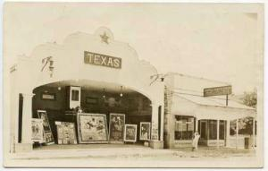 Del Rio TX Texas Theater Movie Posters Candy Store RPPC Real Photo Postcard