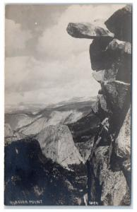 RPPC View from Glacier Point, Yosemite National Park, CA Real Photo Postcard