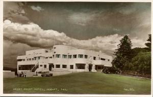 australia, HOBART, Tas., Wrest Point Hotel (1950s) Tinted RPPC