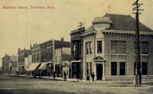 Business Street Fairbury NE 1912